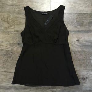 The Limited Shirt Brown Silk Career Work NWT Sz S